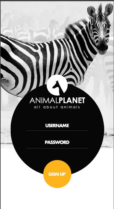 Animal Planet-ionic app theme