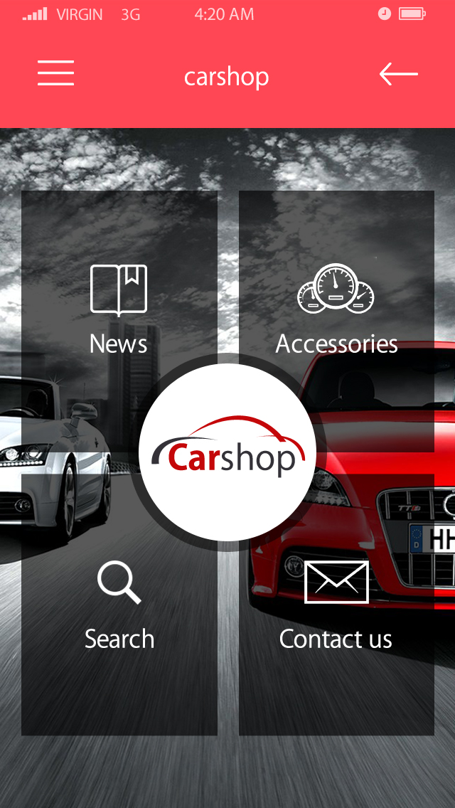 Car shop-ionic app theme
