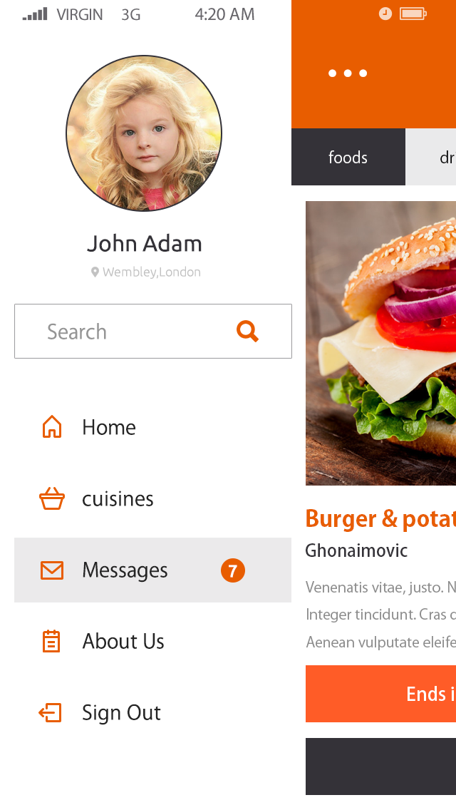Food Club-ionic app theme