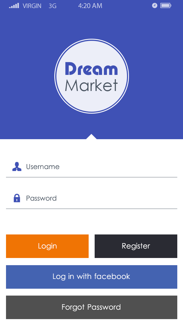 Dream Market-ionic app theme