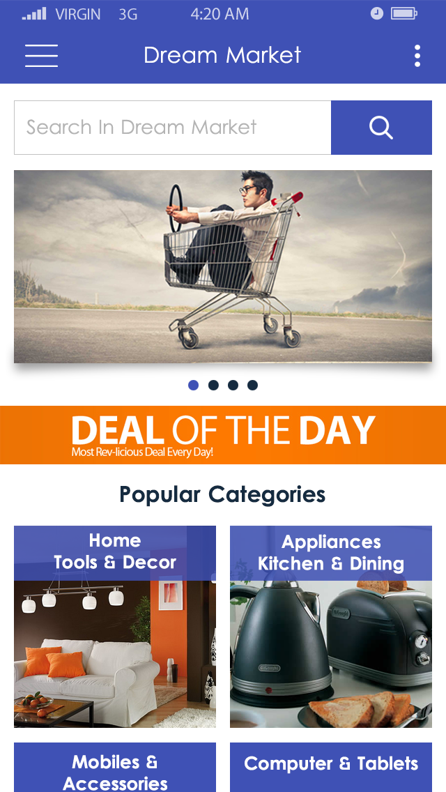Dream Market-ionic app theme