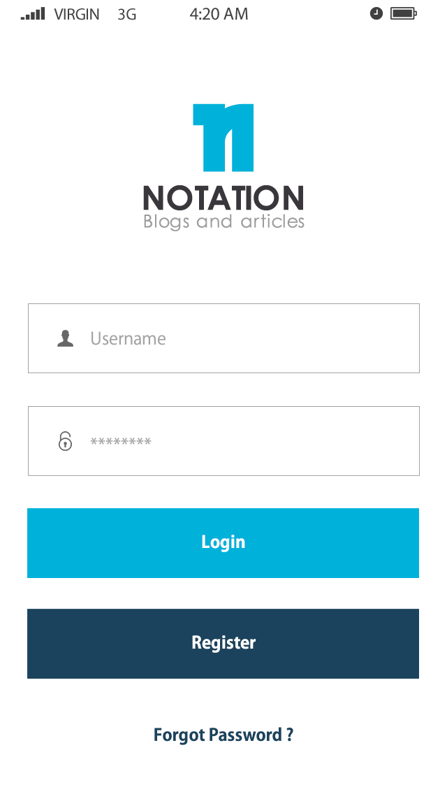 Notation-ionic app theme