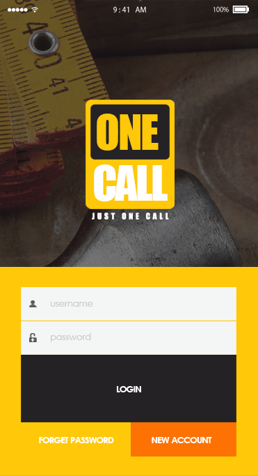 One Call-ionic app theme