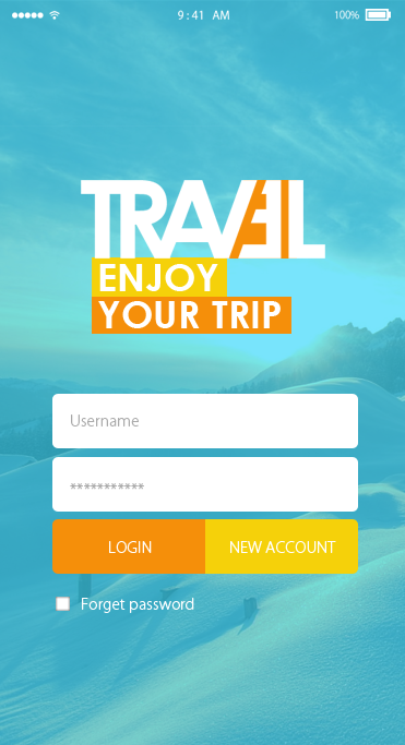 Travel-ionic app theme