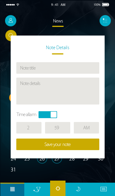 Check-ionic app theme