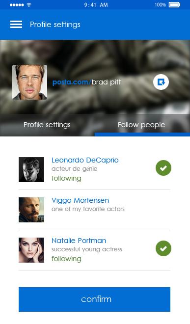 Posta-ionic app theme
