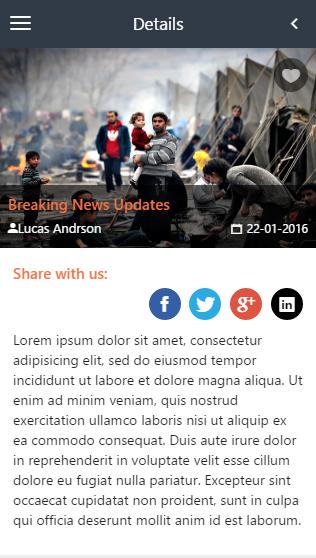 Stroke News-ionic app theme