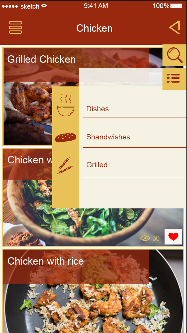 Post Restaurant ..Cook-ionic app theme
