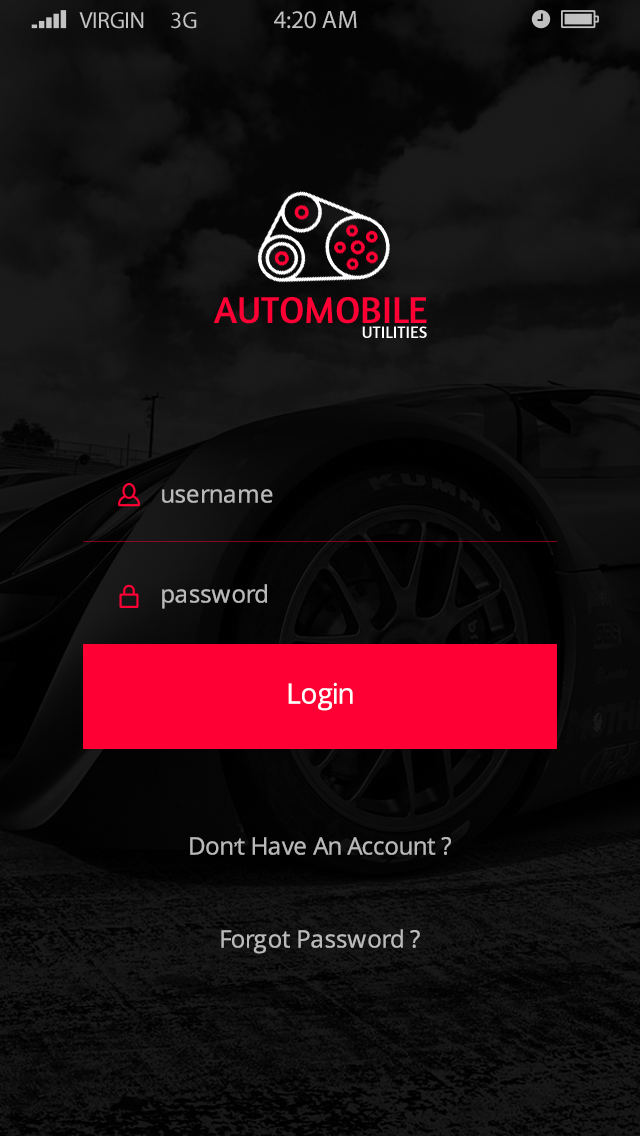 Automobile-ionic app theme