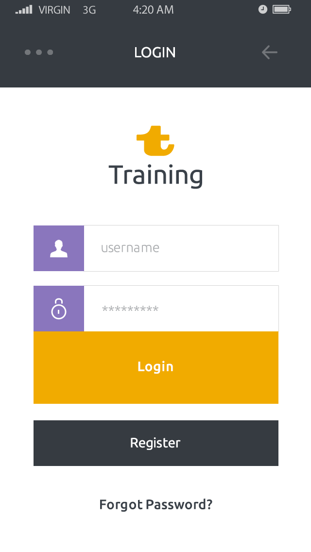Training-ionic app theme