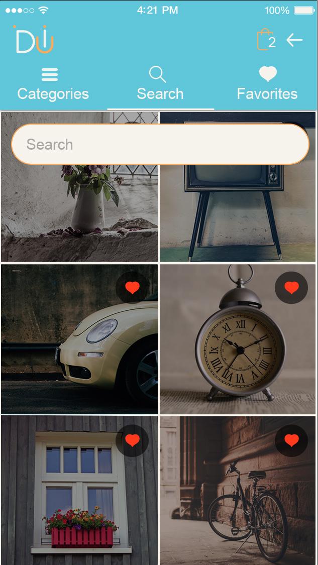 Daily UI-ionic app theme