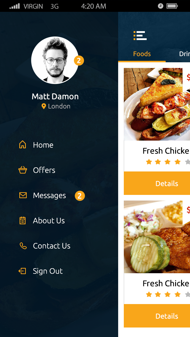 Fun Food-ionic app theme