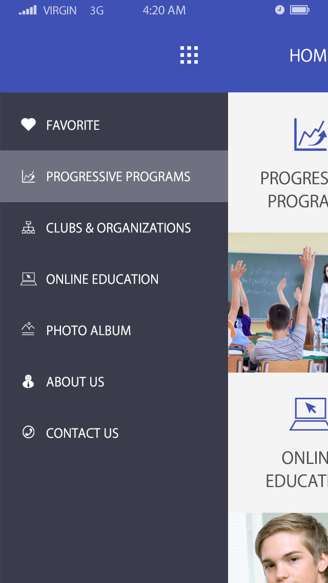 Education Management-ionic app theme