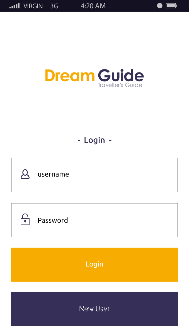 Dream Guide-ionic app theme