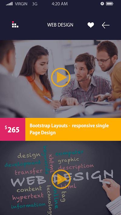 Curricula -ionic app theme