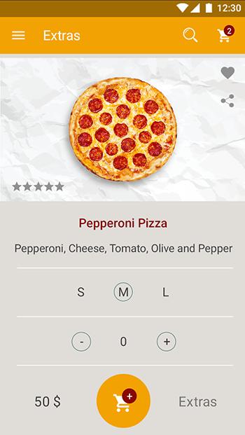 Italian Pizza-ionic app theme