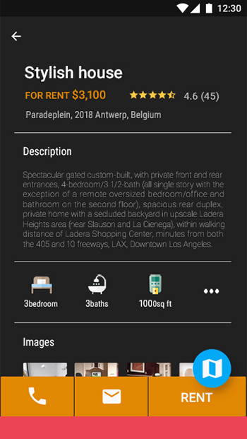 Rentals-ionic app theme