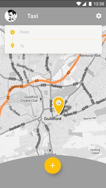 Taxi.User-ionic app theme