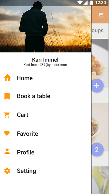 New Restaurant-ionic app theme