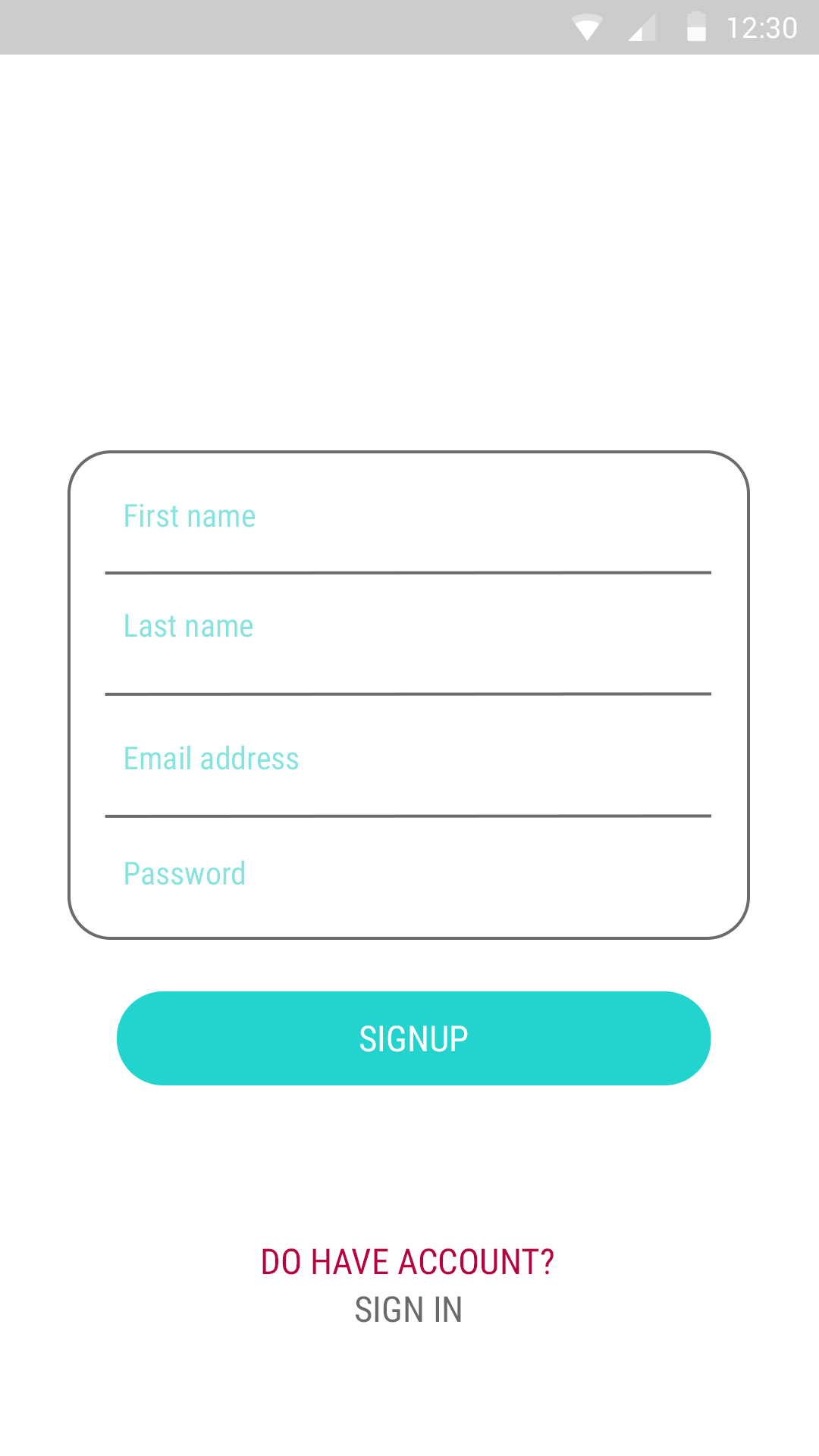white Cyan Login and Sign Up-ionic app theme