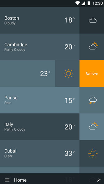 Weather-ionic app theme