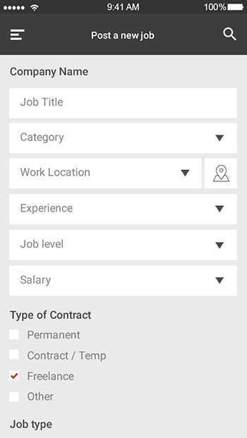 hire-ionic app theme