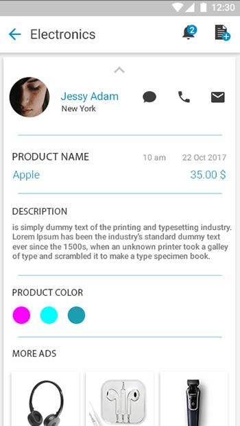Q -Ads-ionic app theme