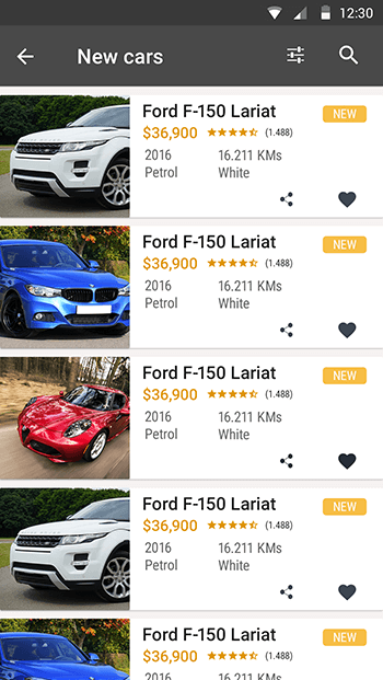 Original Cars-ionic app theme
