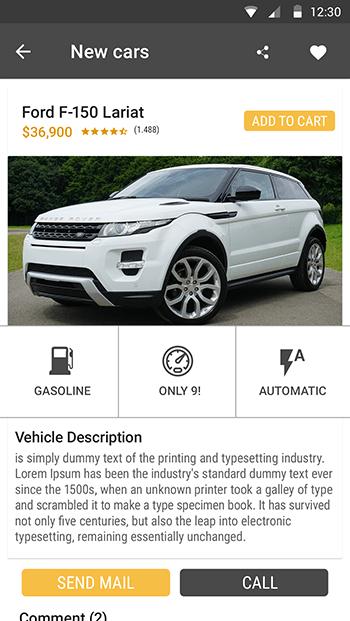Original Cars-ionic app theme