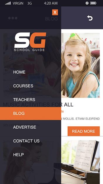 School Guide-ionic app theme