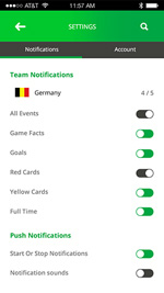 Hi, World Cup-ionic app theme