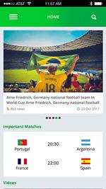 Hi, World Cup-ionic app theme
