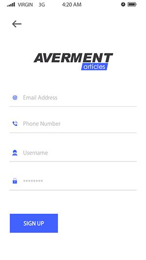 Averment-ionic app theme