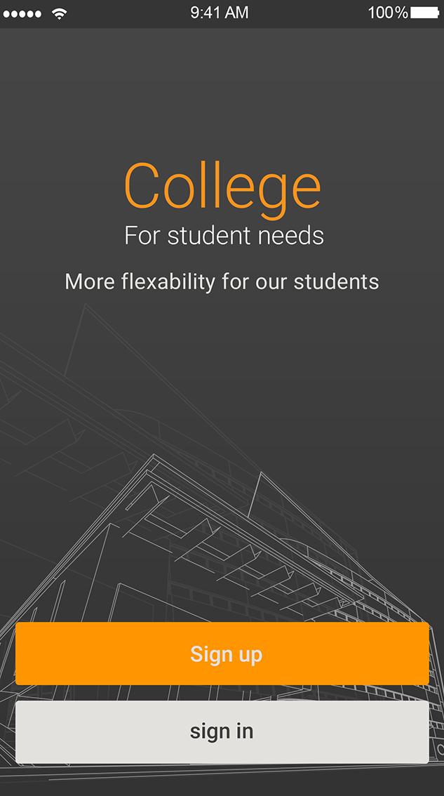 College-ionic app theme
