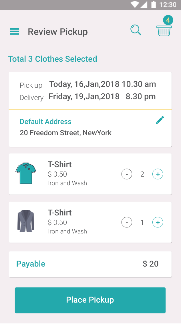 Laundry-Ionic 3 theme for laundry services-ionic app theme