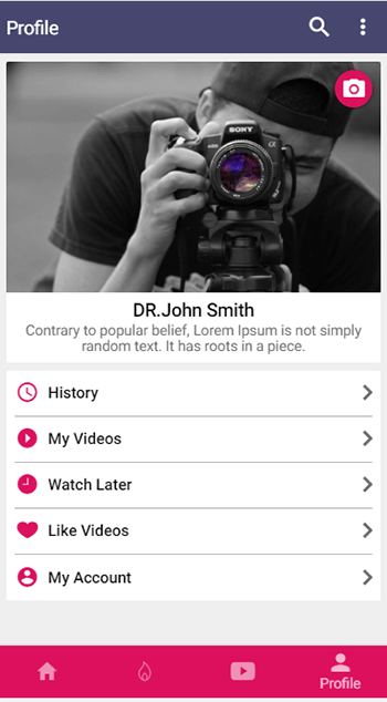 IVIDEO - ionic theme for video streaming-ionic app theme