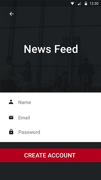 News Feed-ionic app theme