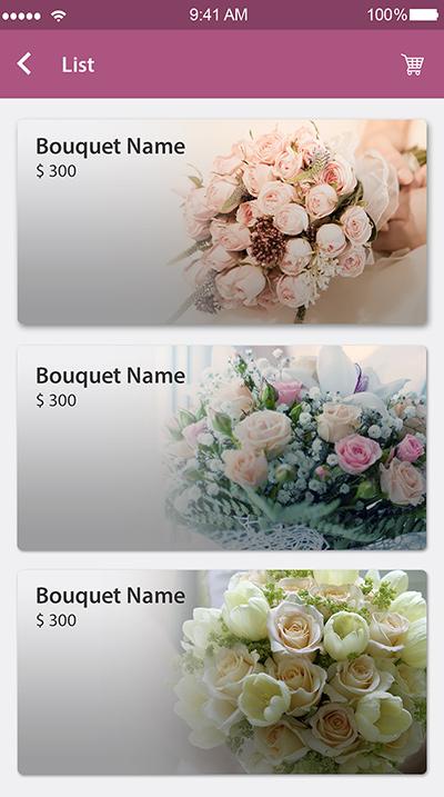 Floral - online flower bouquet -ionic app theme
