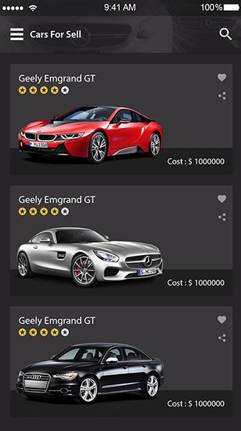 Go Cars-ionic app theme
