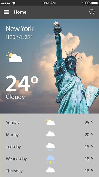 Weather Today-ionic app theme