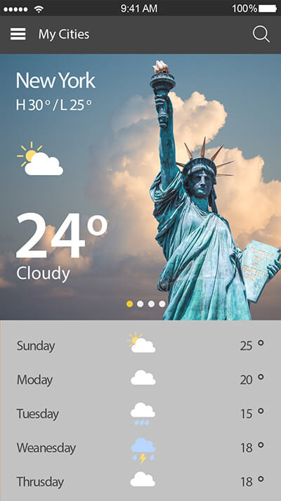 Weather Today-ionic app theme