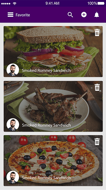 Foodie-ionic app theme