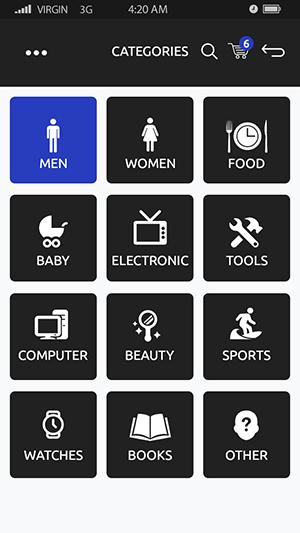 SellZone-ionic app theme