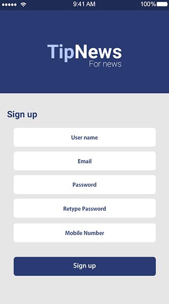 Tip News-ionic app theme