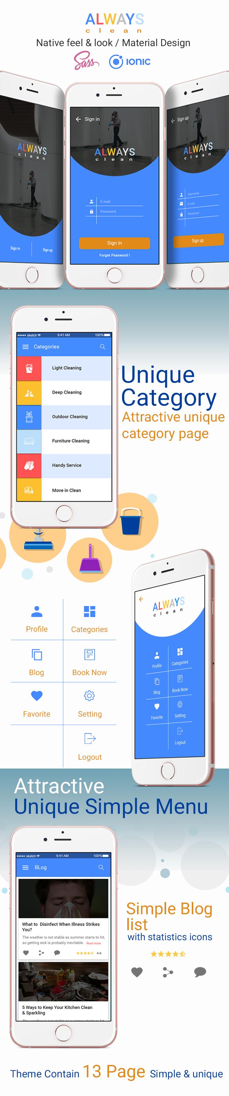 Always Clean-ionic app theme