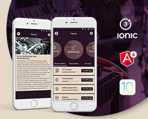 Auto Fast ionic app theme