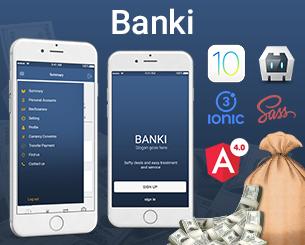 Banki ionic app theme