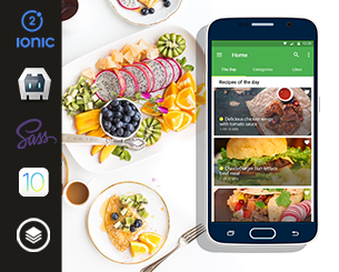Recipes ionic app theme