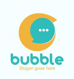 Bubble chat Logo-ionic app theme