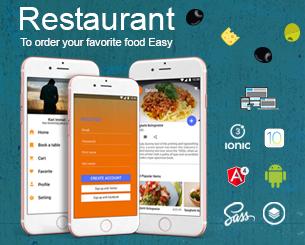 New Restaurant ionic app theme